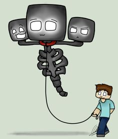 herobrine drawing - Google Search Normal day just walking my pet