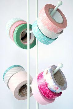 Use washi tape to label your treats! Washi Tape Storage, Washi Tape Crafts, Washi Tapes, Scrapbook Organization, Craft Organization, Organizing Life, Tapas, Duct Tape, Masking Tape