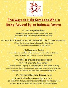 5 ways to help someone who is being abused by an intimate partner