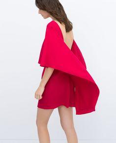 Zara cape dress with low back ($100)