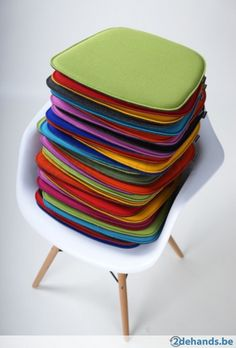 Kussentjes/seatpads voor o.a. VITRA / Eames