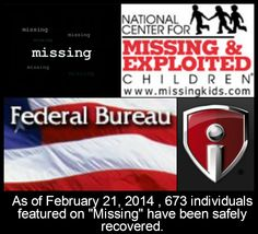 """""""Missing"""" is a nationally-syndicated weekly television series featuring actual cases of missing persons, both children and adults, from across North America. Working with local, state and federal law enforcement agencies, including the FBI, and missing persons organizations such as The National Center for Missing and Exploited Children, our goal is to provide viewers with vital facts about missing individuals and to increase public awareness."""
