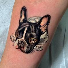 Weird Tattoos, Dainty Tattoos, Dog Tattoos, Animal Tattoos, Cute Tattoos, Tattoo Drawings, French Bulldog Tattoo, French Tattoo, Wolf Tattoo Design