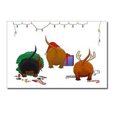 Dachshund Doxie Christmas Postcards (Package of 8) by nothinbuttdogs