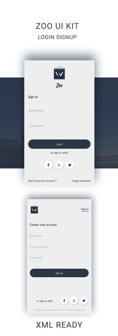 download LOGIN SIGNUP UI KIT, Ready XML files to import in android project,