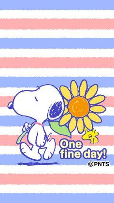One fine day! Snoopy and Woodstock with a giant flowers. Cartoon Wall, Cartoon Dog, Cute Cartoon, Cartoon Characters, Peanuts Cartoon, Peanuts Snoopy, Snoopy Love, Snoopy And Woodstock, Disney And More
