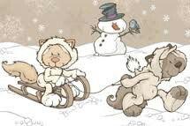 Zimowa zabawa Cute Illustration, Teddy Bear, Pictures, Animals, Illustrations, Friends, Art, Photos, Amigos