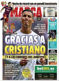 Rassegna stampa estero: Benitez ringrazia Cristiano Ronaldo - http://www.maidirecalcio.com/2015/12/31/rassegna-stampa-estero-17.html