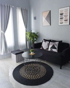 Cute Living Room, Simple Living Room Decor, Home Design Living Room, Colourful Living Room, Room Design Bedroom, Living Room Paint, Bedroom Decor, Design Scandinavian, Interior Design Minimalist