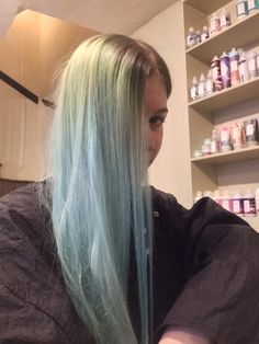 HELP - does anyone have any tips on getting rid of blue stained hair (with a green band from bleach covering regrowth)?