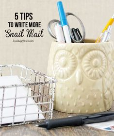 5 Tips to Write More Snail Mail with livelaughrowe.com #snailmail