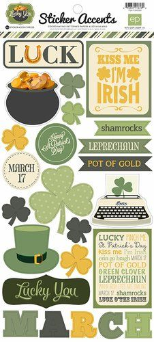 Echo Park - Lucky You Collection - Cardstock Stickers