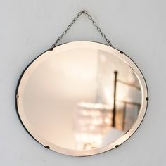 Vintage Bevelled Edge Oval Mirror from The Other Duckling. This pretty vintage bevelled edge oval mirror would make a lovely bathroom.