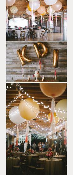 love all of this fun balloon wedding decor! ~  we ❤ this! moncheribridals.com