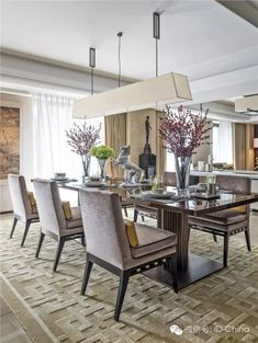 You must see this marvelous dining room witch luxury furniture to help you improve your house decor! See more interior design ideas here www.covethouse.eu #luxurydiningroom