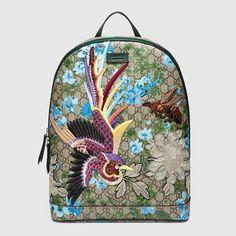 Gucci XL GG floral print backpack - 419584KYSDK8936