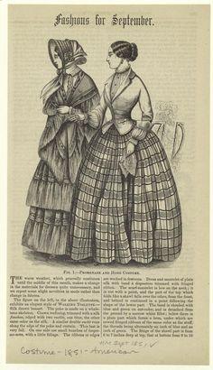 Historical Art, Historical Costume, Historical Clothing, 1850s Fashion, Edwardian Fashion, Vintage Fashion, Harper's Magazine, Civil War Dress, Victorian Costume
