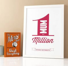 personalised 'mum in a million' print by rosie may creative | notonthehighstreet.com