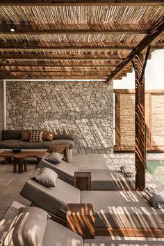 Hotel Casa Cook Kos - The Best of Architecture Ideas Outdoor Pergola, Backyard Patio, Outdoor Spaces, Outdoor Living, Outdoor Decor, Pergola Kits, Pergola Canopy, Pergola Roof, Cheap Pergola