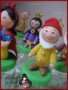Nilci art's em biscuit: Festa Branca de Neve