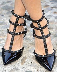 valentino stud #shoes #black #style