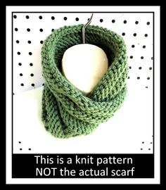 Knitting Pattern Knit Infinity Scarf Pattern Knit Cowl Pattern Mobius Scarf Pattern Knit Scarf Pattern BOA 5.00 USD by #strawberrycouture on #Etsy - MUST SEE!