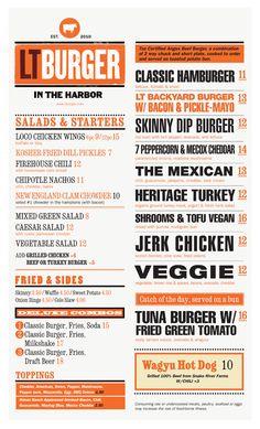 LT Burger Sag Harbor, NY DESIGNED BY MARK BROOKS GRAPHIK DESIGN.