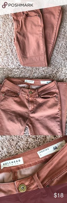 PacSun Bullhead Jegging Jeans PacSun Rust Bullhead Jegging Jeans. Jeans are a size 7, but run a little bit small. They have been worn only once and are in excellent condition! Jeans are the perfect color for summer and a great way to add a pop of color to an outfit. Open to offers! 🌻 PacSun Jeans Skinny
