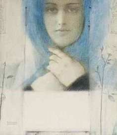 Fernand Khnopff (Belgian, 1858-1921) Clématis signed 'FERNAND/KHNOPFF' (lower left) pastel on paper 10 x 8¾ in. (25.4 x 22.2 cm.) Executed circa 1914.