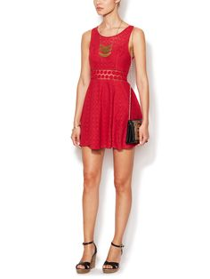 Daisy Waist Cotton A-Line Dress by Free People at Gilt