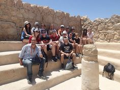 """The """"Alon42"""" school from Warszaw, Poland touring Israel"""