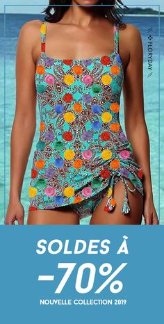Shop Floryday for affordable Swimwear. Floryday offers latest ladies' Swimwear collections to fit every occasion. Cute Fashion, New Fashion, Womens Fashion, Tankini With Shorts, Haut Bikini, Swim Dress, Swimwear Fashion, Bathing Suits, Beachwear