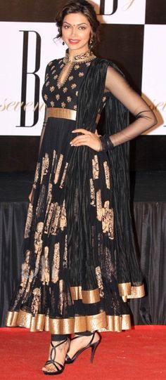 Black Colored #Designer #Anarkali Suit