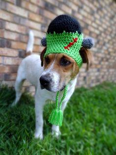 Frankenstein Dog Hat Costume - The Frankenstein Halloween Costume for Dogs