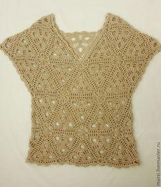 Crochet Square Patterns, Crochet Diagram, Cute Crochet, Beautiful Crochet, Crochet Doilies, Crochet Lace, Crochet Blouse, Crochet Fashion, Crochet Clothes