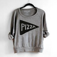 Womens Slouchy Pizza Sweatshirt by #Xenotees