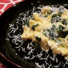 Simple leek & spinach cream pasta sauce http://wp.me/p5zdfc-2D