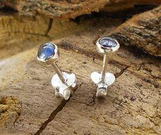 pendientes zafiro azul natural
