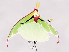 Moth Princess by drawnbydana.deviantart.com on @DeviantArt