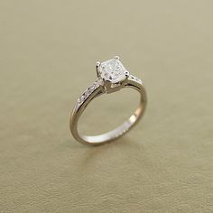 Vintage 14k White Gold and Diamond Engagement by SITFineJewelry  Pretty!!