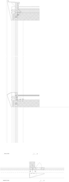 Bonnard Woeffray architectes. Technical School Visp. Details facades