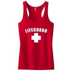 dd4c59f46e840 Red Womens Lifeguard Racerback Tank Top