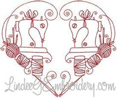 Redwork Sewing Design, 2 (small)