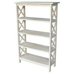 170.99 sale Reg: $189.99 Save $19.0 (10.0% off) X-Sided Shelf Unit Unfinished - International Concepts  Dimensions: 30.000 inchesH x 48.000 inchesW x 12.000 inchesD Weight: 41.500 pounds