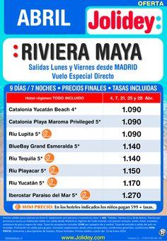 Oferta Abril - Riviera Maya desde 1.090€ Tax incl.Salidas Lunes y Viernes de Abril ultimo minuto - http://zocotours.com/oferta-abril-riviera-maya-desde-1-090e-tax-incl-salidas-lunes-y-viernes-de-abril-ultimo-minuto/
