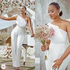 Two Piece Wedding Dress, Wedding Dresses Plus Size, Elegant Wedding Dress, Plus Size Wedding, Elegant Dresses, One Shoulder Wedding Dress, Modest Wedding, Civil Wedding, Dress Wedding
