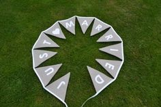 Bunting by Jenny Bunting, Stone, Outdoor Decor, Party, Home Decor, Garlands, Rock, Decoration Home, Room Decor