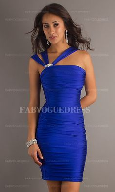 Sheath-Column Asymmetrical Short-Mini Jersey Prom Dress $424.99 Short Prom Dresses
