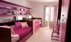 Cute Ergonomic Pink  Girls Bedroom Design for Two – DearKids Kids Bedroom Design for Two