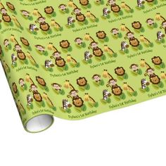 Jungle Animal Personalized Wrapping Paper